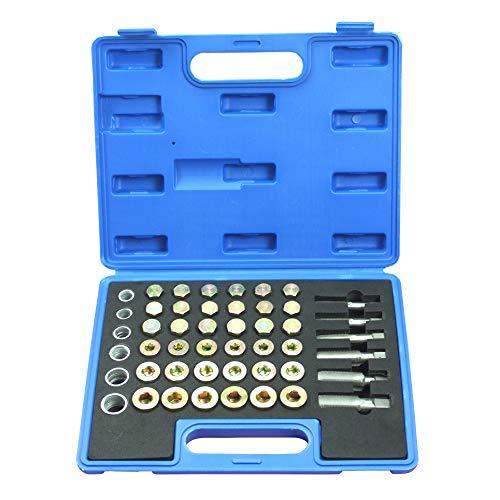 Hengda 114 TLG Ölwanne Gewindereparatur Satz Werkzeuge Reparaturset Ölablassschraube Set Ablassschraube Universal Magnetische M13 - M22 KFZ Gewindereparaturwerkzeuge