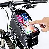 Tomuku Sacoche Vélo Téléphone Etanche, Support Téléphone Cadre Top Tube Sacoche Cadre VTT pour...