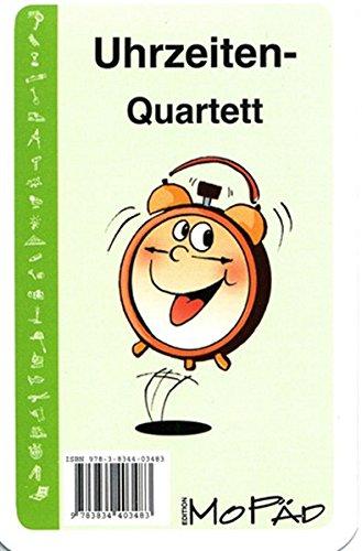 Uhrzeiten-Quartett: 1. und 2. Klasse: Kartenspiel für die 1. und 2. Klasse