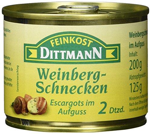 Feinkost Dittmann Weinbergschnecken, Escargots im Aufguss, 2 Dutzend (1 x 200 g)