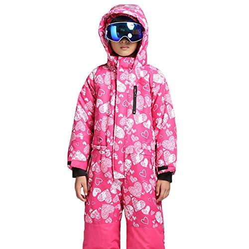 ZYJANO Skianzug 2019 Winter One Piece Colorful Waterproof Kids Ski Suit Girls Boys Warm Jumpsuit Snow Sets Thermal Windbreak Snowboard Suit,02,122