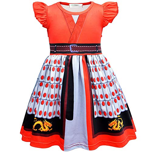 KRILY Hanfu Vestido De Baile Traje Herona China Vestido Mujer Disfraz Cosplay Disfraz Fiesta De Halloween para Nios Tabardo de Cosplay del Vestido de la Hembra 2-8 Years,120