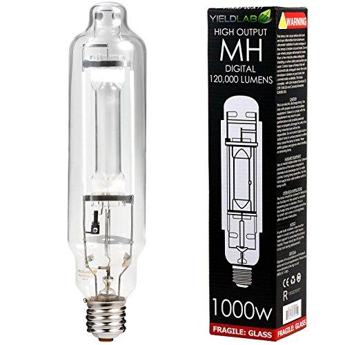 Yield Lab 1000w Metal Halide (MH) Digital HID Grow Light Bulb (5500K) – 1 Bulb – Hydroponic, Aeroponic, Horticulture Growing Equipment
