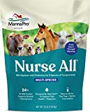 Manna Pro Nurse All Multi Species Milk Replacer with Probiotics for Horses | Formulated with All-Milk Protein to Promote Growth and Development | Helps Support Healthy Gut and Digestions| 3.5lbs