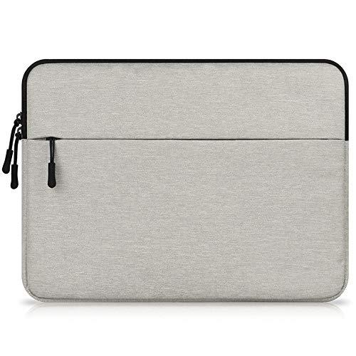 Laptop-Schutzhülle, stoßfest, mit Taschen, für Asus Chromebook, Vivobook/HP Stream, HP Chromebook/Lenovo Chromebook, ThinkPad, Yoga, Flex 11 (Hellgrau)