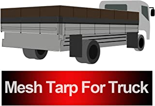 Truck Mesh Tarp 8'X20' (Black) Tentproinc Heavy Duty Cover Top Quality Reinforced Double Needle Stitch Webbing Ripping and Tearing Stop, No Rust Thicker Brass Grommets – 3 Years Limited Warranty