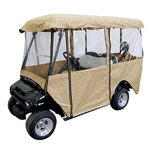 ez go golf cart covers Leader Accessories Deluxe 4-Person Golf Cart Cover Storage Driving Enclosure Fit EZ Go, Club Car, Yamaha Cart