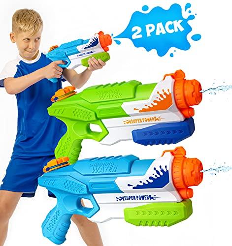 Water Gun, Squirt Guns Water Guns for Kids Adults Super Water Soaker Blaster-35ft Long Range Large...