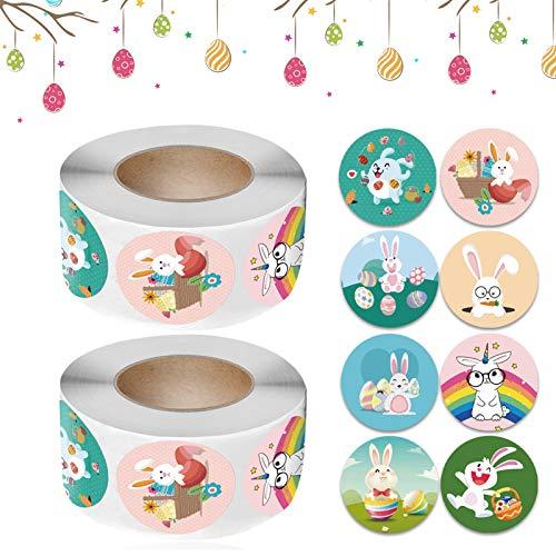 Easter Sticker Roll,Oster Kinder Aufkleber,Benutzt für Basteln Deko Verpackung Selbstklebende Etiketten Geschenkaufkleber (L106)