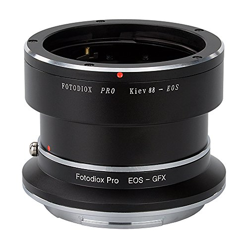 Fotodiox Pro Lens Mount Double Adapter Kiev 88 SLR and Canon EOS (EF/EF-S) D/SLR Lenses to G-Mount GFX Mirrorless Camera