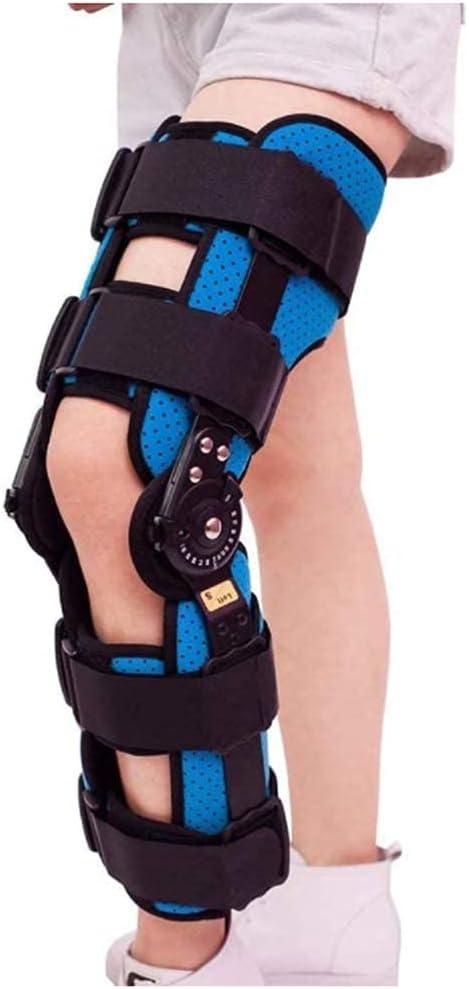 XBSXP Inmovilizador de ortesis de Rodilla, estabilizador de férula de Rodillera con bisagras Ajustable para Fractura posoperatoria de Pierna, lesión de ligamento de desgarro de menisco d