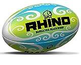 Rhino Barracuda Beach Pro Ballon de Rugby Vert/Bleu/Blanc Taille 2