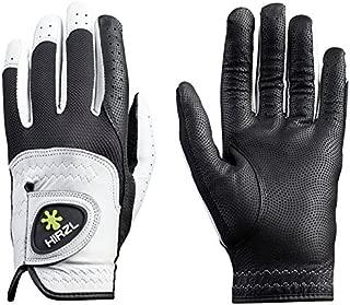 HIRZL Trust Control Golf Glove Mens Textured Palm Kangaroo Leather Black/White