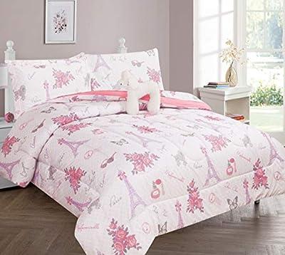 GorgeousHomeLinen Kids Girls or Boys Twin Comforter Bedroom Bedding Set 6 Pieces Flat, Fitted Sheet, Comforter, Pillow Case, Pillow Sham, Pillow Figure