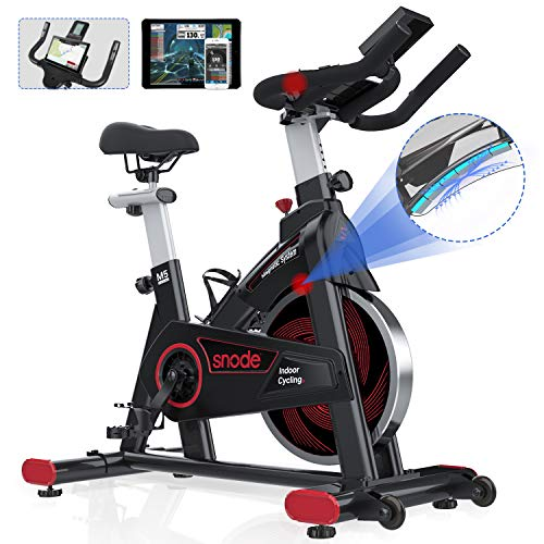 SNODE Magnetic Indoor Exercise bike, Cycling Bike With Tablet Holder, Stationary Bike...