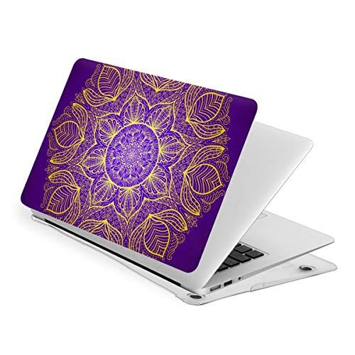 Bohemian Mandala Pattern Flower Purple Laptop Cover Protective Case MacBook 13 Air is Suitable A1466 A1369 MacBook New Air13 is Suitable A1932. MacBook 15 Touch is Suitable A1707 A1990