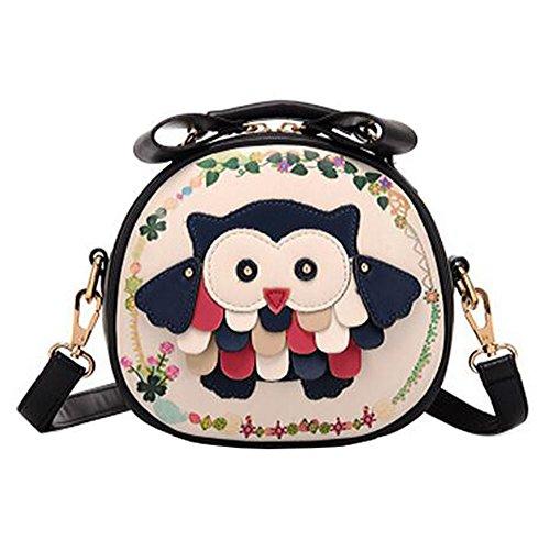 Mode bourse mignonne hibou ronde sac à bandoulière filles élégantes simples sac bandoulière