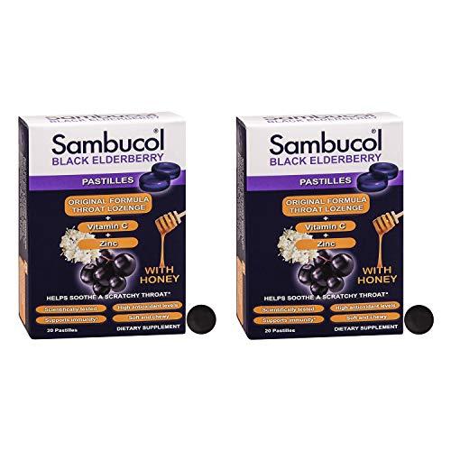 Sambucol Pastilles, Black Elderberry, 20 Count - 2 Pack