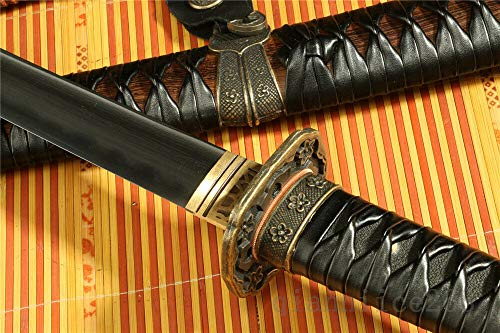 Jiang Tong Damascus Clay-Tempered Handmade Japanese Katana