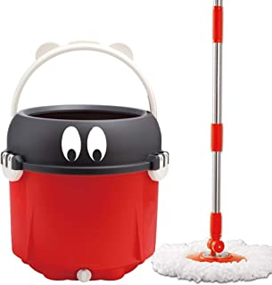 Spinning Mop and Bucket Cleaning Set-360 Degree Spinning with 6 Mop Heads