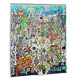 gdingxiantengsubaihuoshang Cartoon Spongebob Schwammkopf Duschvorhang Badezimmer Dekoration wasserdicht Duschvorhänge mit 12 Kunststoffhaken 60 x 72 Zoll