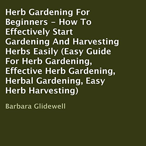 Herb Gardening for Beginners audiobook cover art