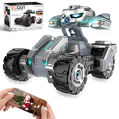 RC Cars, Remote Control Car with 720P HD Camera, 4WD WiFi FPV High Speed Gravity Sensor with Lights, AR Mode Electric RC Trucks 1:18 Versus Mode Car with Rechargeable Battery for Kids and Adults