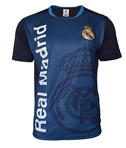 Icon Sports Group Men Real Madrid C.F. Stadium Class Poly Shirt Jersey - Blue (L, NO Name DD1G-01)