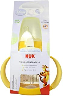 300 ml NUK 10216119 First Choice Anti-Colic Babyflasche aus Polypropylen f/ür Milch ab 6 Monate rosa mit Weithalssauger Latex Gr/ö/ße 2 M