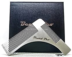 Beard comb for shaping beard care set, ideal for the Beard Pro template beard care set to shape your beard neck and more