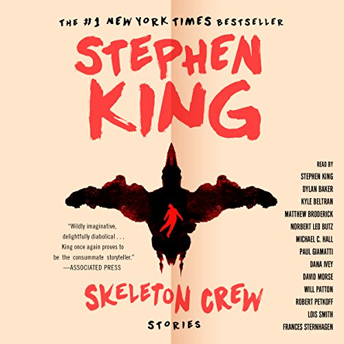 Skeleton Crew                   Written by:                                                                                                                                 Stephen King                               Narrated by:                                                                                                                                 Stephen King,                                                                                        Matthew Broderick,                                                                                        Michael C. Hall,                   and others                 Length: 22 hrs and 29 mins     36 ratings     Overall 4.5