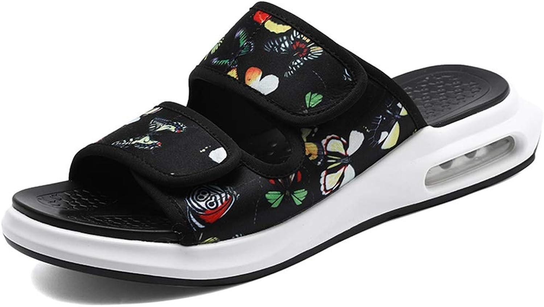 ChengxiO Outdoor Sandals Men's Slippers Personality Korean Summer Sandals Non-slip Wear Fashion Trend 2019 Black, Size   250mm