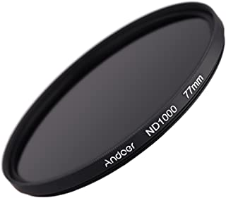Andoer 77mm ND1000 Filter 10 Stop Fader Graufilter für Nikon Canon DSLR Kamera