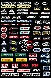 Kit DE Pegatinas PATROCINADORES Motocicletas COMPATIBLES para Casco Honda Yamaha KTM Cross Enduro (07)