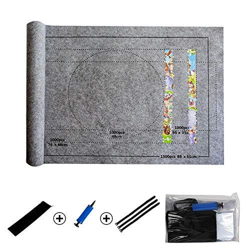 Puzzle Storage Saver Schwarze Filzmatte Decke Professionelle Puzzle Rollmatte mit Reiseaufbewahrungstasche r Bis zu 1500 Stück