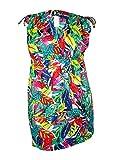 Lauren by Ralph Lauren Women's Rainforest Tropical Farrah Dress Cover-Up Multi Swimsuit Top