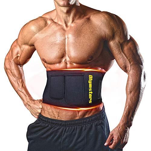 Olymstars Bauchweggürtel,Waist Trainer Beschleunigt das Schwitzen im Bauch, Verbrennt Kalorien und Inneres Fett,Waist Trimmer for Sport, Laufen, Yoga Usw