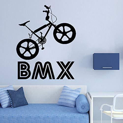JXFM Kinderfiets-decoratie, zelfklevend, 56 x 72 cm