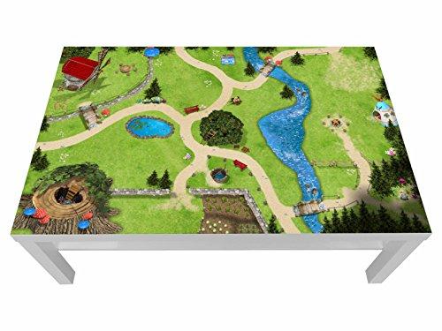 Stikkipix Zauberwald Möbelfolie | LCG11 | passgenau für den Lack Spieltisch von IKEA (Möbel Nicht inklusive)