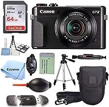 Canon PowerShot G7 X Mark II 20.1MP 4.2X Optical Zoom Digital Camera + 64GB Memory Card + Deluxe Camera Case + Spider Tripod + Premium Accessories Bundle