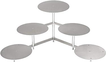 edelstahlheini.de Aluminium taartstandaard taartstandaard rond bruiloft 3 etages 5 platen diameter Ø 27 cm etagère (Ø 5X 2...