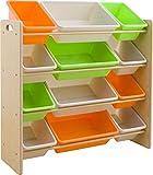 おもちゃ箱 ラック 4段 キャロット 幅86.3×奥行34.8×高さ89.5cm THR-4CA