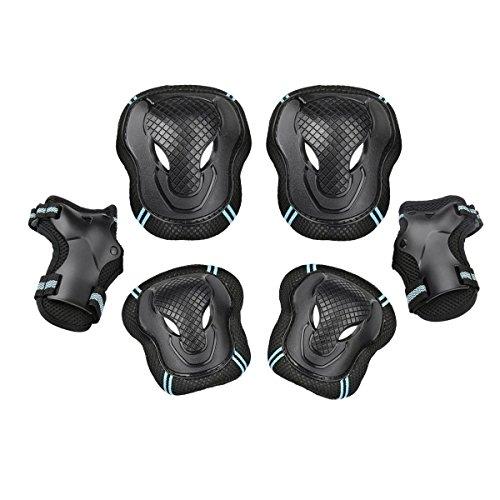 Ecent 6PCS Set di protezione bambina Polsini + Ginocchiere + Gomitiere per Hoverboard, Skateboard BMX e Bicicletta