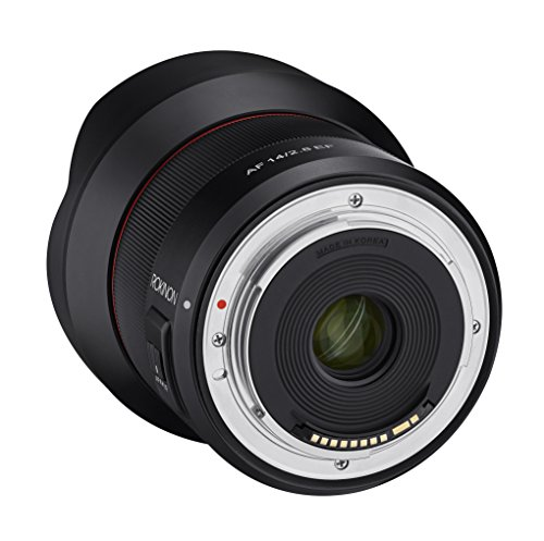 Rokinon AF 14mm F2.8 Weather Sealed Auto Focus Wide Angle Lens for Canon EF, Black (IO14AF-C)