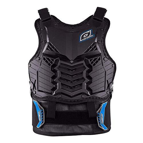 O\'NEAL | Motorrad-Protektorweste | Enduro Motocross Downhill | Kunststoff-Spritzguss, Schutz am Bauch & des unteren Rückens | Holeshot Roost Guard Long | Erwachsene | Blau | Größe L