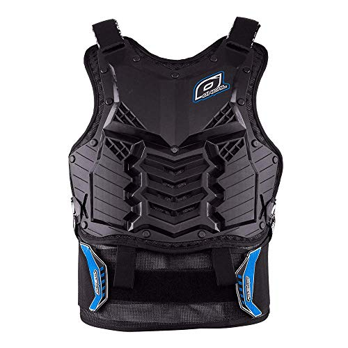 O'Neal   Chaleco Protector de Moto   Enduro Motocross Downhill   Plástico inyectado, protección Abdominal y Lumbar   Holeshot Roost Guard Short   Adultos   Negro Azul   Talla única