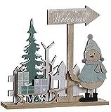 Hogar y Mas Decoración Navideña Original, Figuras y Adornos de Navidad Welcome