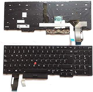 Junweier Español Teclado retroiluminado para IBM Lenovo thinkpad E580 L580 L590 P52 P72 E590 E585 E595 T590 P53S 01YP680 01YP640 01YP560 SN5372BL SN20P34496 01YP600 01YP760 Spanish SP LA ES Latin