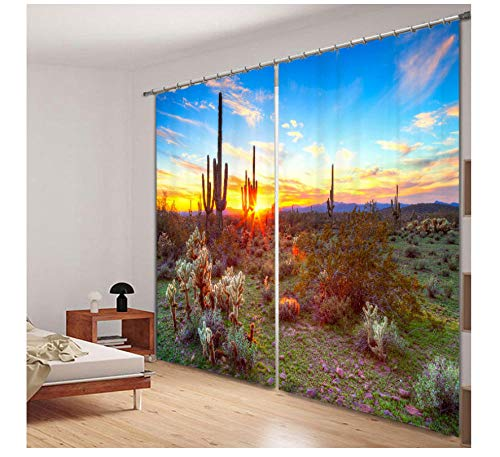 CwdDqkd 3D Blackout Curtains Drapes Desert Scenery Luxury Kitchen Living Room Bed Room Window Curtains Hotel Office Wall Tapestry