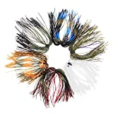 Fishing Silicone Jig Skirts DIY Bass Jig Lures Rubber Material- 12/36 Bundles 50 Strands Fishing...